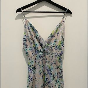 😁 floral dress with blue/green/white  flowers